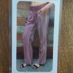 Denim Blue//White Striped Wide Leg Pants NWT